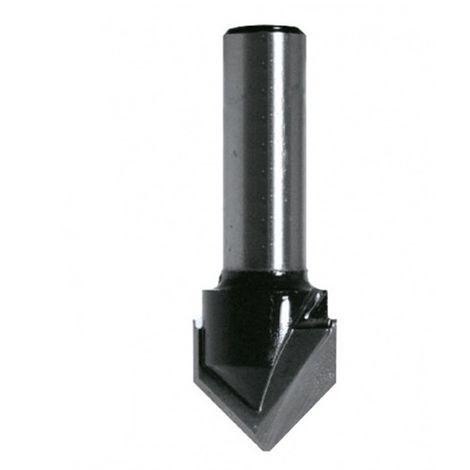 Mèche à rainure en V HM D. 10 mm L.U. 13 mm angle 90° Q. 8 mm - 4298.710.00 - Leman