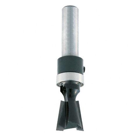 Mèche d'assemblage à queue d'aronde HM + guide supérieur D. 14 mm L.U. 12,7 mm Angle 14° Q. 8 mm - 4368.714.00 - Leman - -