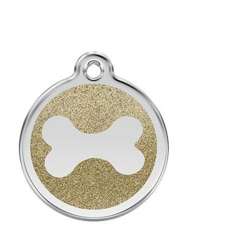 Medaille chien chat red dingo paillette