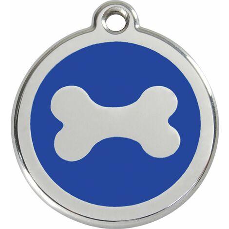 """Médaille Red Dingo bleue """"os"""""""