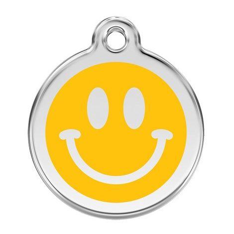 "Médaille Red Dingo jaune ""smiley"""