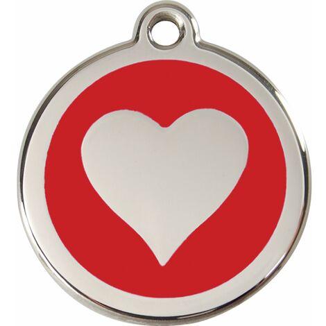 "Médaille Red Dingo rouge ""coeur"""