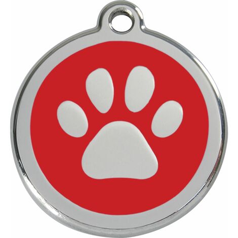 """Médaille Red Dingo rouge """"patte"""""""