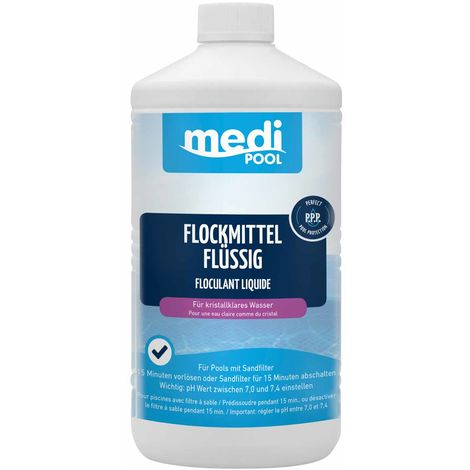 medi POOL Flockmittel flüssig 1 Liter, Flockungsmittel, Flockmittel, Wasserpflege mediPOOL - 19831