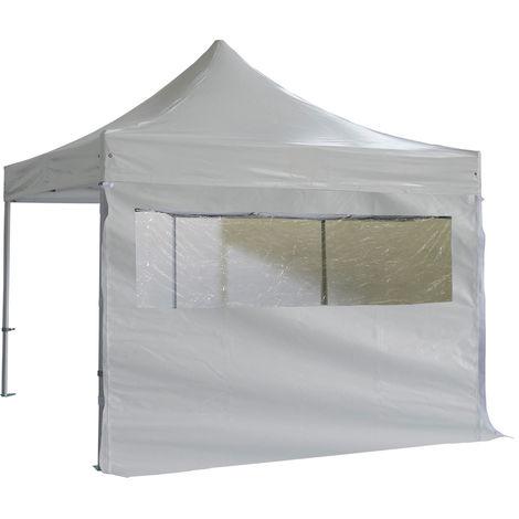 Media ventana panoramica de 3m con cortina de PVC 520g / m2 Blanco