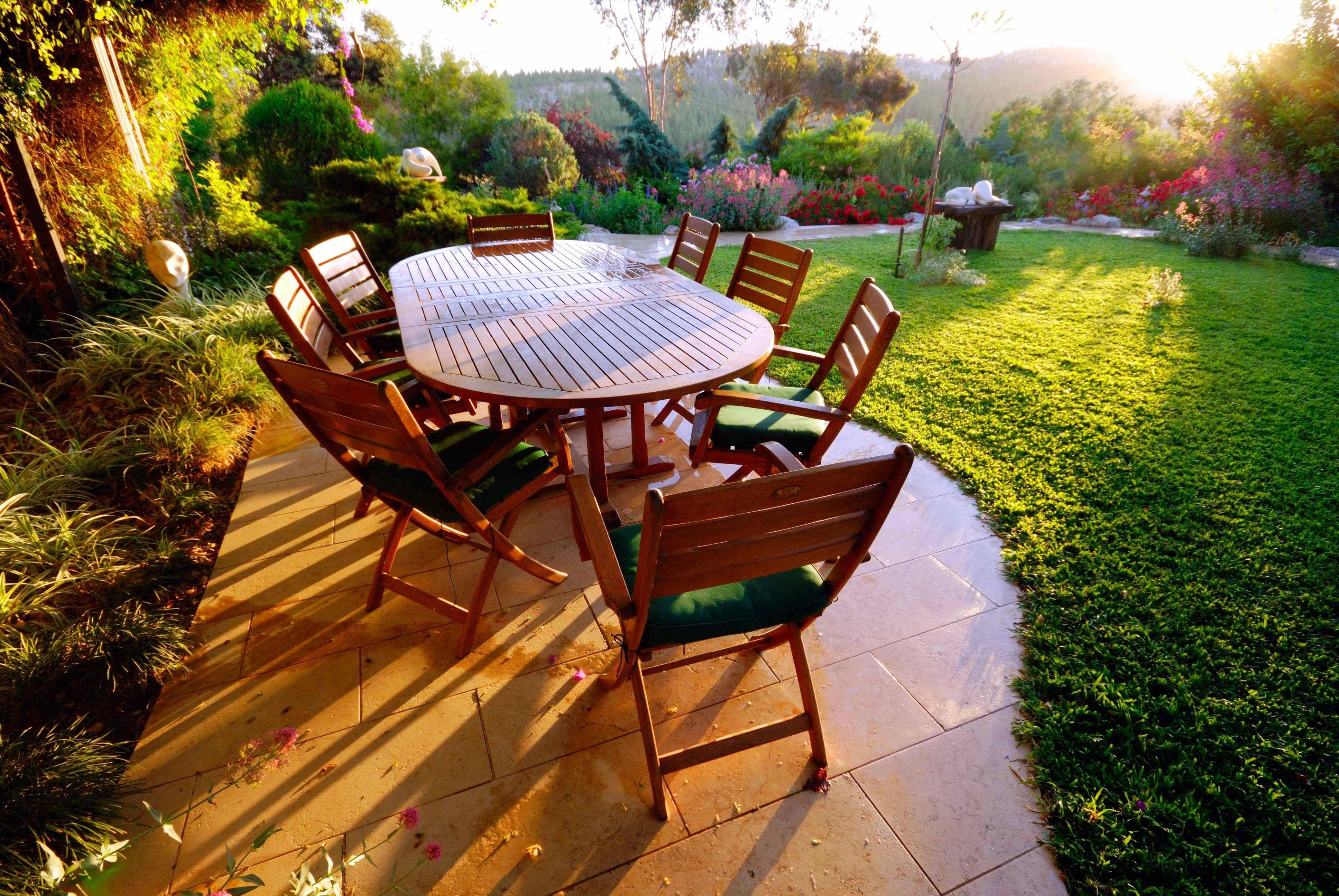 Cómo elegir un conjunto de muebles de jardín