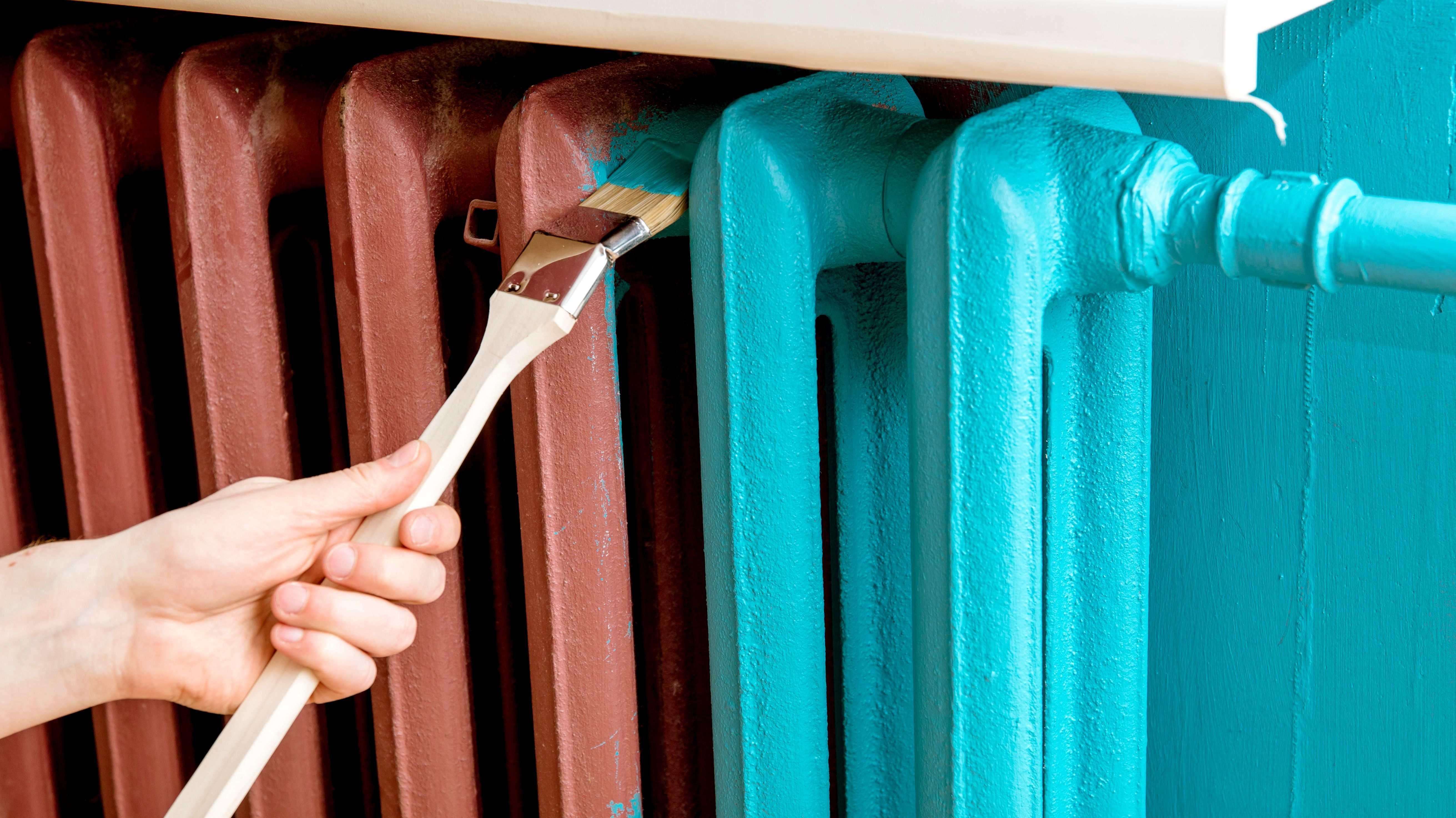 Zoom sur  la peinture pour radiateur