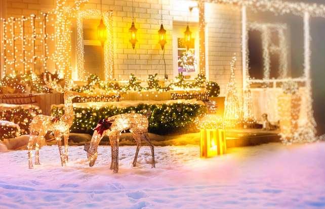 Weihnachtsdeko für außen: So geht's
