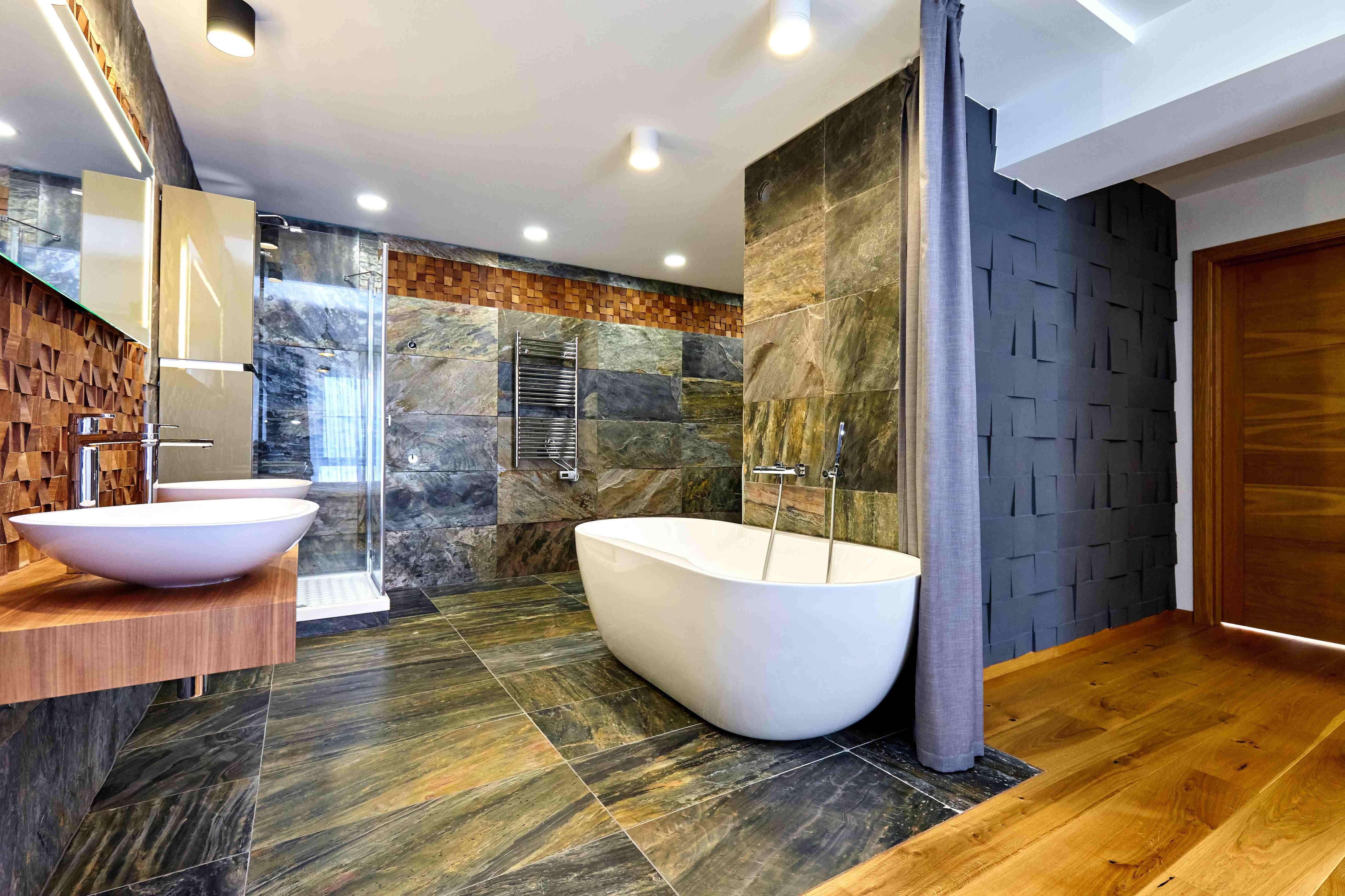 Quel revêtement mural choisir  pour la salle de bains