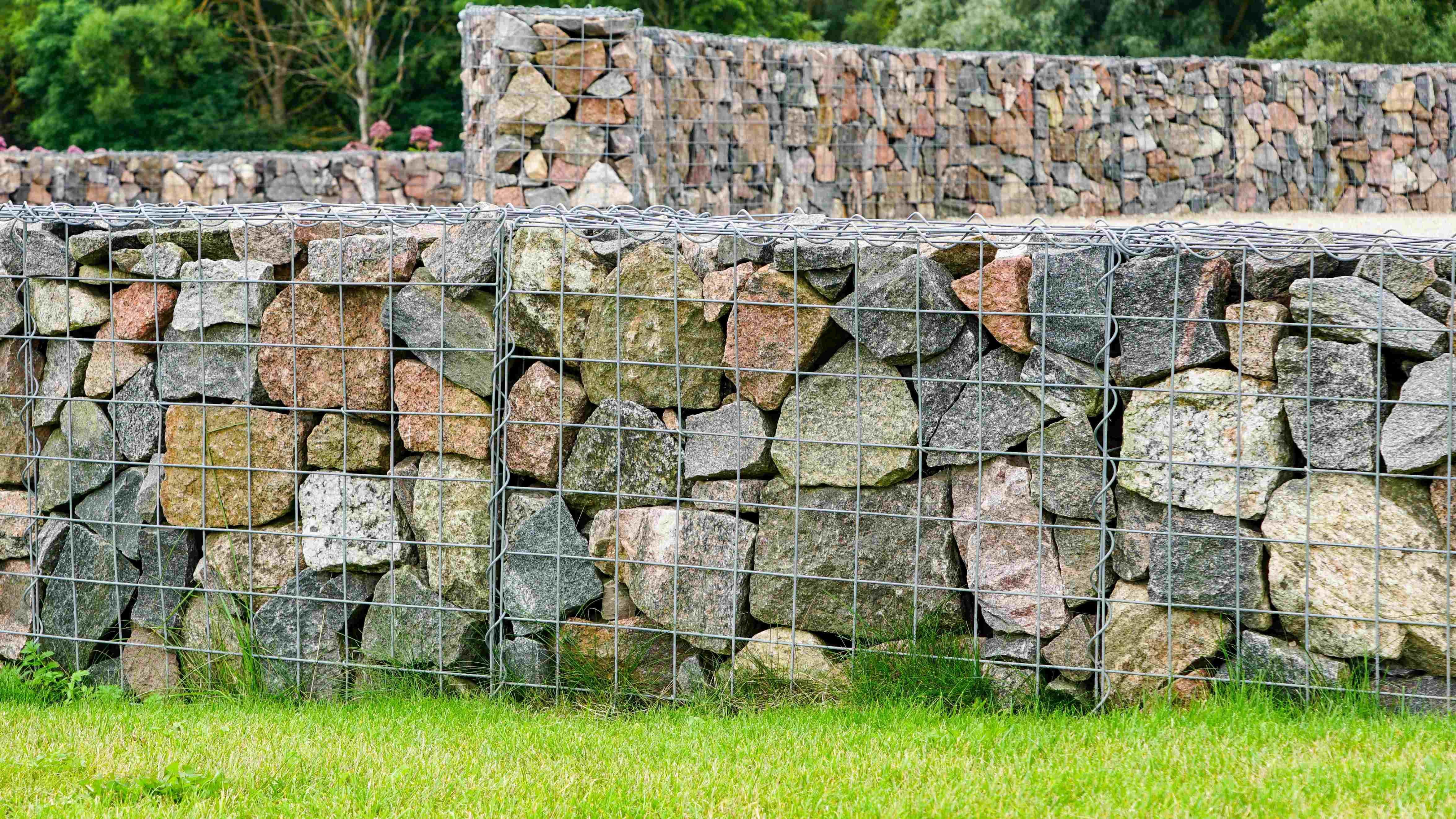 Mur en gabion  : zoom