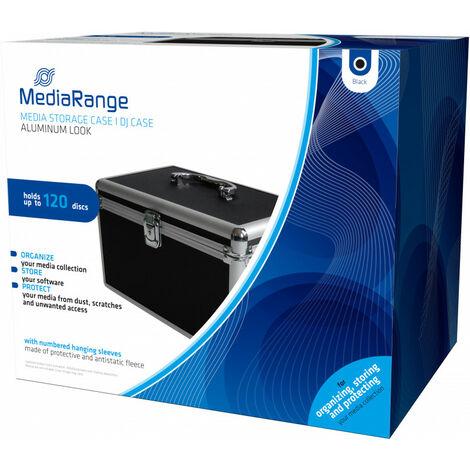 MediaRange Valise DJ pour 120 CD ou DVD, couleur noire (BOX70)