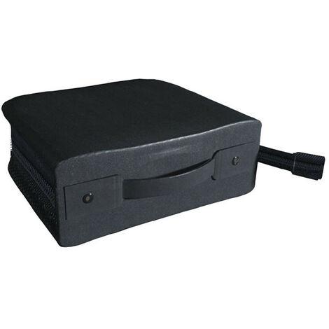 MediaRange Valisette en Nylon et Skaï pour 300 CDs ou DVDs, Noir (BOX94)