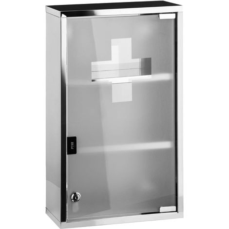 Medicine Cabinet,Stainless Steel finish ,Glass Door