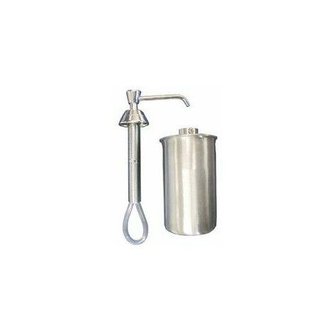 Mediclinics DJ0120C - Dosificador de jabón manual para empotrar a encimera. Dispensa jabón líquido Latón cromado Brillante