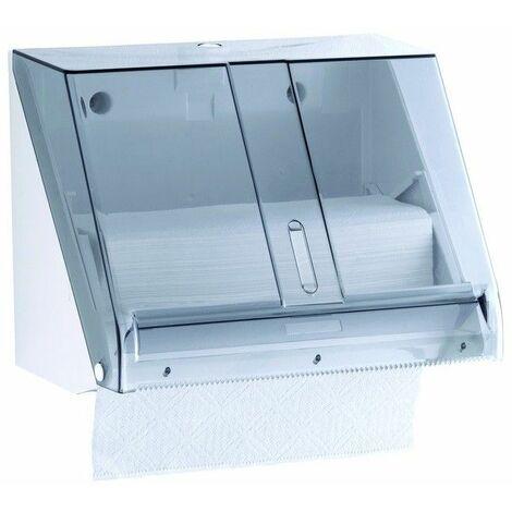 Mediclinics DT0518F - Dispensador de papel toalla C/Z ABS Blanco / Fumé