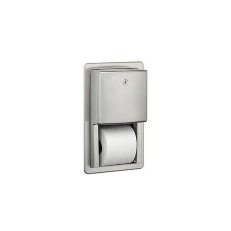 Mediclinics PRE700CS - Dispensador de papel higiénico estándar para encastrar a la pared Acero inox AISI 304 Satinado