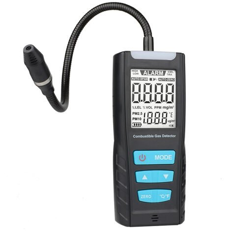 Medidor de analizador de gas, detector de sensor de gas combustible, con alarma