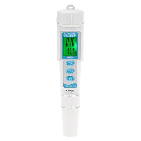 Medidor de calidad del agua multiparametrico 3 en 1 Monitor Medidor de pH y CE y TEMP