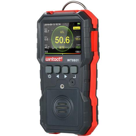 Medidor de gas combustible, con registro de datos 120000, alarma de vibracion de luz y sonido