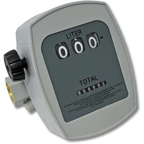"""Medidor de gasoil 3 bar 10-60l/min Conexiones 1"""" Desviación 1%"""