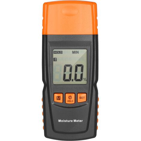 Medidor de humedad de madera digital KKmoon Analizador de contenido de agua de lena Probador de humedad Deteccion de 4 especies de arboles para madera de madera de carpinteria, Tipo 2