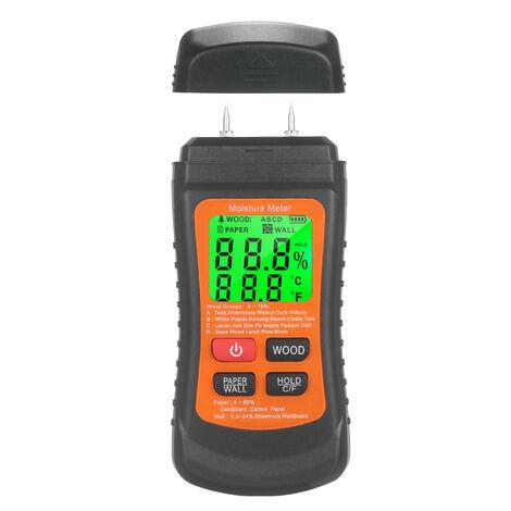 Medidor de humedad de madera, probador de humedad digital LCD, detector de humedad, sin bateria