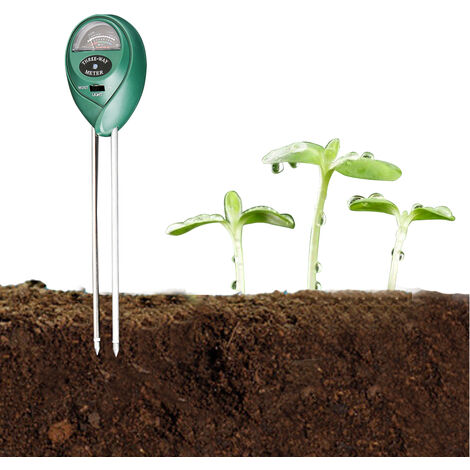Medidor de humedad PH de prueba de suelo 3 en 1, probador de luz, herramienta de monitoreo de suelo, no necesita bateria