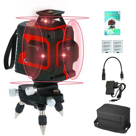 Medidor de nivel de haz laser rojo, Nivel laser de control tactil, con Base pivotante