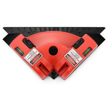 Medidor de nivel laser horizontal y vertical de proyeccion de linea laser, rojo