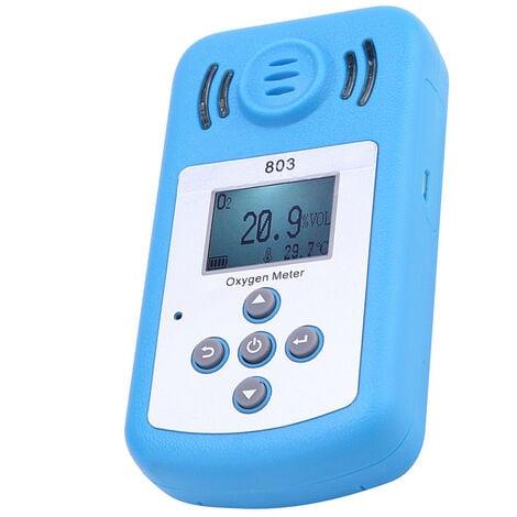 Medidor de oxigeno Detector portatil de concentracion de oxigeno (O2), con pantalla LCD y alarma de luz sonora