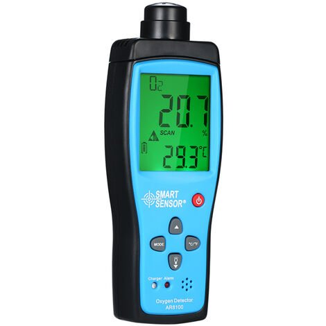 Medidor de oxigeno SMART SENSOR, probador de gas O2 automotriz portatil digital