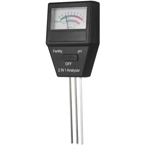 Medidor de pH del suelo 2 en 1, analizador de prueba de fertilidad, con tres sondas