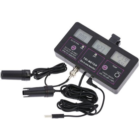 Medidor de prueba de agua multiparametrico 6 en 1, medidor multiparametro pH / RH / EC / CF