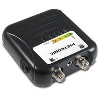 Medidor de señal con toma F y LEDs indicadores