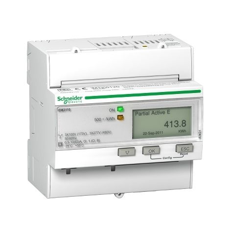 Medidor iEM3110 63 A directos Clase 1 SCHNEIDER ELECTRIC A9MEM3110