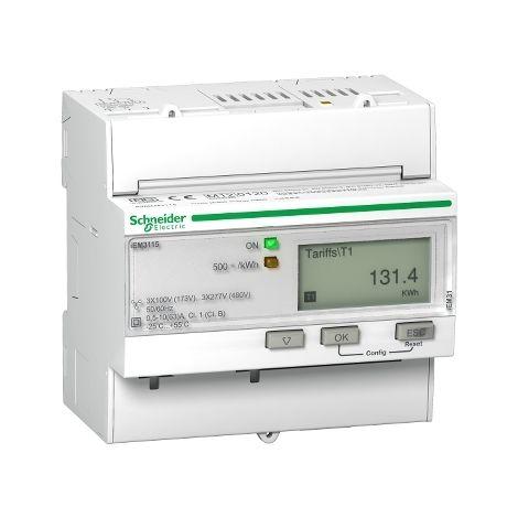 Medidor iEM3115 63 A directos Clase 1 SCHNEIDER ELECTRIC A9MEM3115