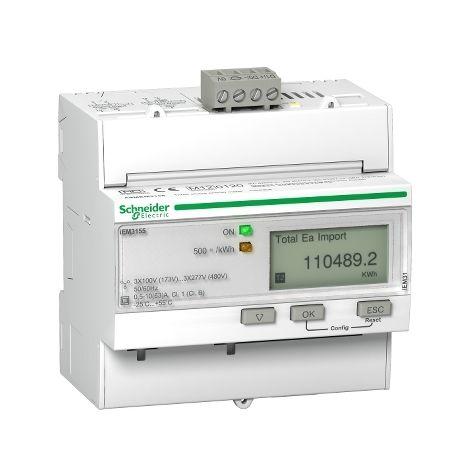 Medidor iEM3155 63 A Clase 1 MODBUS MID SCHNEIDER ELECTRIC A9MEM3155