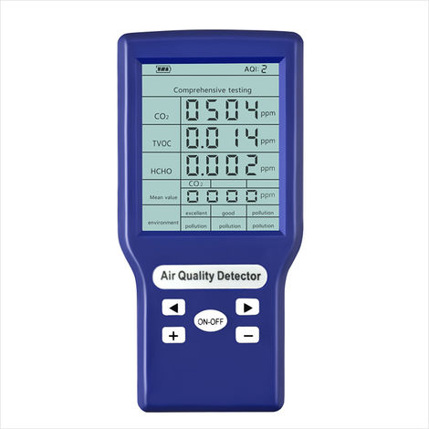 Medidores de ppm de CO2, mini detector de dioxido de carbono, analizador de gases