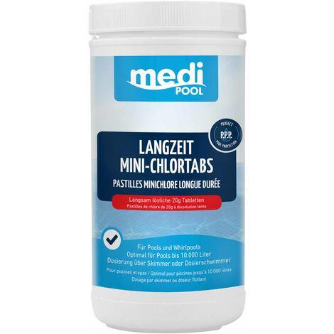 mediPOOL mediPOOL Langzeit-Minichlor Tabs 20 g, Chlortabletten, Chlorlangzeittabletten, Poolreinigung