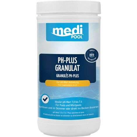 mediPOOL mediPOOL pH-Plus Granulat, pH Heber, pH Regulator, Wasserpflege, Chlorgranulat für den Pool