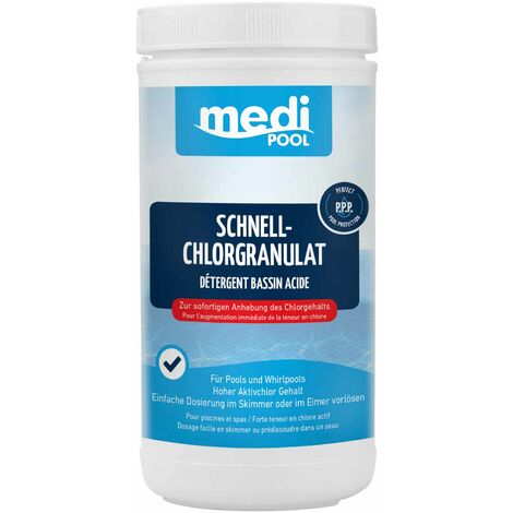 mediPOOL mediPOOL Schnell-Chlor Granulat Chlorgranulat Aktivchlor Poolreinigung Poolpflege
