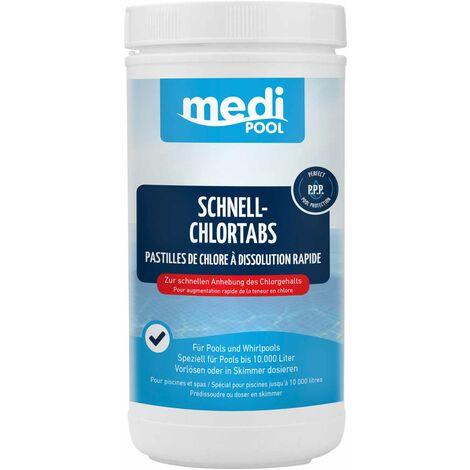 mediPOOL mediPOOL Schnell-Chlor Tabs 20 g, Schnellchlortabletten, Chlortabletten, Poolreinigung