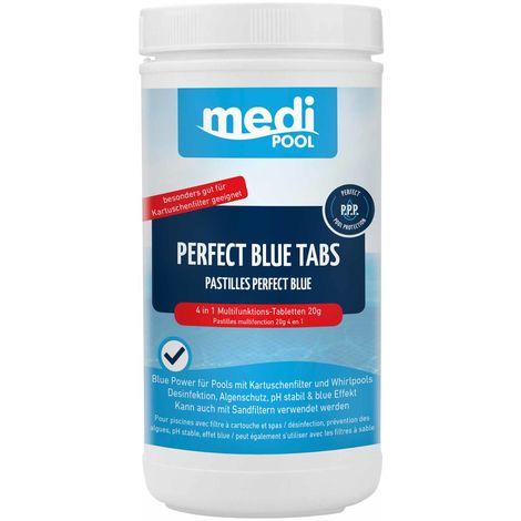 mediPOOL Perfect Blue Tabs 4in1 1 kg, 20 g Chlortabletten, Desinfektion, ph-stabil, Algenverhütung, Poolreinigung mediPOOL - 19765