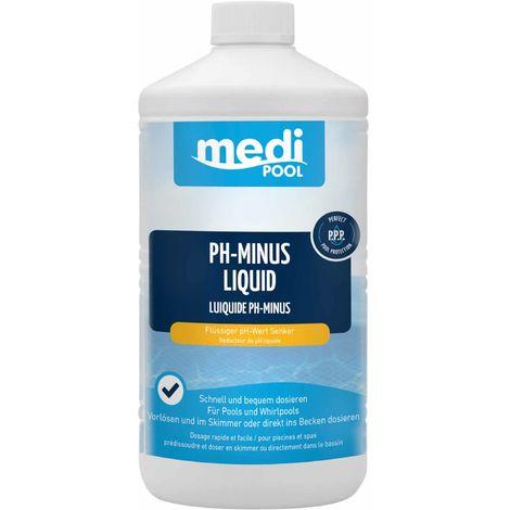 mediPOOL pH-Minus Liquid 1 L, pH Senker, pH Regulator, Wasserpflege, Flüssigchlor mediPOOL - 19770