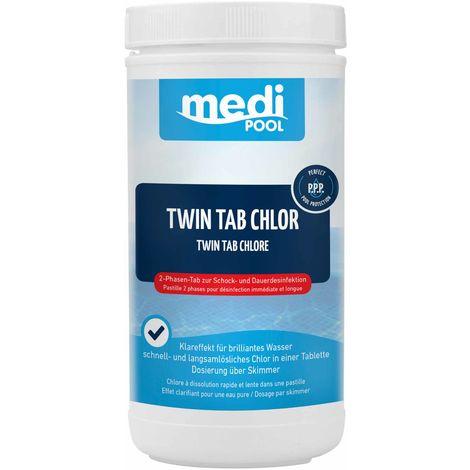 mediPOOL Twin Tab Chlor 4x 250 g, Schnell- und Langzeit Chlortabletten, Poolreinigung mediPOOL - 19768