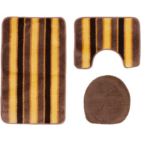 Mediterraneo Stripe Bath Mat Set (3 Piece)