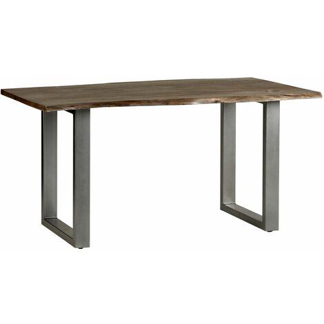 Medium Sized Dining Table Grey Essential Live Edge - Light Wood