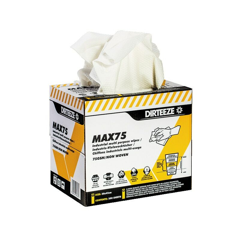 Image of Dirteeze Medium Strength Multi-purpose Wipes, Pack Qty 200