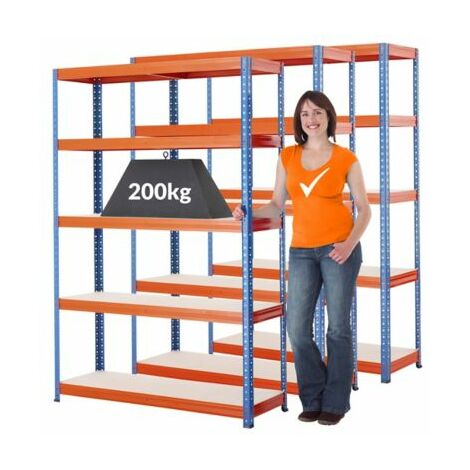Mega Deal   3x Schwerlastregal - Tiefe 40 cm   200 kg pro Fachboden