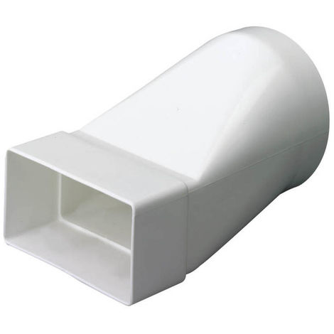 Megaduct Rectangular Ventilation Duct Round to Rectangular Adaptor - 220mm x 90mm